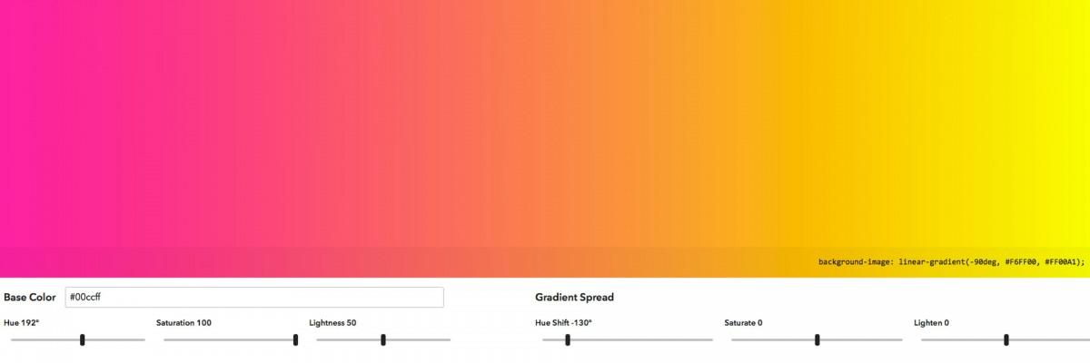 Mathematically derived gradient explorer.